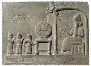 relief en pierre de culte païen idolâtre ancien Babylonien