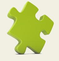 pieza del rompecabezas verde