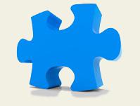 azul pieza del rompecabezas