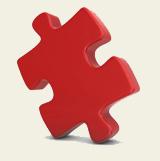 pieza del rompecabezas rojo