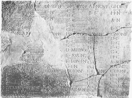 fasti julien, calendrier julien du début de l'ère julienne