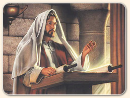 sabbath - jesus (Yahushua) reading scroll in temple