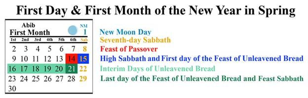 sabbath restoration - first month calendar